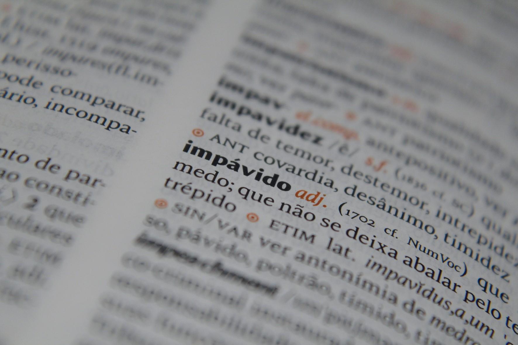 Dicionário da Língua Portuguesa III » USP Imagens - Banco