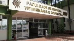 Fachada da Faculdade de Medicina Veterinária e Zootecnia – FMVZ