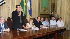 Assinatura da parceria entre o parque tecnológico e a prefeitura de Ribeirão Preto