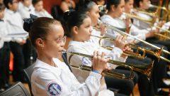 Apresentação Cultural do Coral Música Criança durante a Cerimônia de Abertura Oficinal do 5º Congresso de Graduação da USP no auditório da FDRP . Local: Campus da USP Ribeirão Preto. Foto: Cecília Bastos/USP Imagem