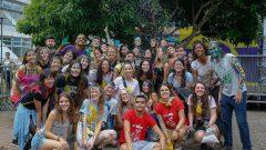 Alunos da ECA durante a Semana de Recepção dos calouros 2019. Foto: Cecília Bastos/USP Imagem