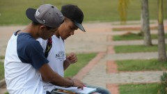 Estudante de escola pública, Vestibulando circulando na USP. foto Cecília Bastos/Usp Imagem