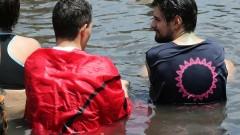 Semana Recepção dos Calouros - Banho do Laguinhona na FAU. - - foto Cecília Bastos