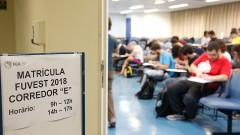 Calouros da FEA fazem inscrição no primeiro dia de matrícula na USP. Foto: Cecília