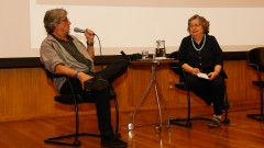 Ivan Lins, Flavia Camargo Toni no Encontro sobre a doação do acervo pessoal do músico Ivan Lins para o IEB. Foto: Cecília Bastos/USP Imagem