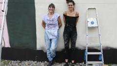 USP Mulheres. Painel confeccionado por Ju Violeta e Mag Magrela na Semana HeForShe