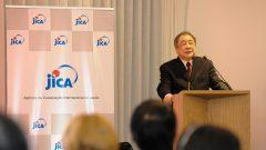 Masato Ninomiya (professor da USP Direito) durante o Lançamento da Catédra Fujita-Ninomiya . Foto: Cecília Bastos/USP Imagem