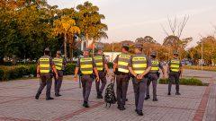Polícia na Praça do relógio. Foto: Cecília Bastos/USP Imagem