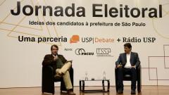 Marcello Rollemberg , Fernando Haddad ( candidato prefeito) na Jornada Eleitoral - Uma parceria USP Debate + Rádio Usp - Idéias dos candidatos a prefeitura de São Paulo. foto: Cecília Bastos/Usp Imagem. Reg. 267-1