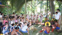 Visita dos índios, do Xingu, no campus da USP de Ribeirão Preto