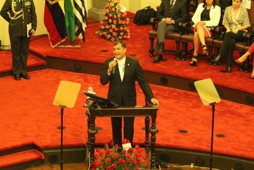 Dircurso de Rafael Correa – FDUSP