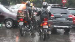 Motoqueiros na cidade de São Paulo – Capital