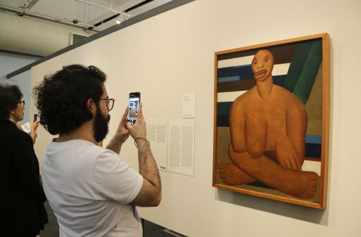 """Exposição """"Tarsila Popular"""". Museu de Arte de São Paulo."""