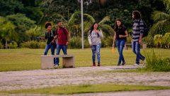 Alunos circulando no campus da USP. Foto: Cecília Bastos/USP
