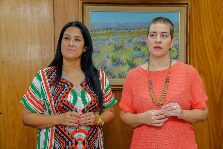 Pesquisadoras da FFLCH Ana Carolina Amaral e Vanessa Monte.