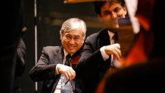Apresentação da Orquestra Sinfônica da USP regido pelo maestro Willian Coelho na semana de recepção dos calouros do campus de Bauru.