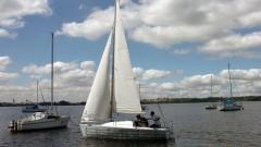 Navegando na represa Guarapiranga