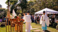 Cerimônia Xintoísta no Jardim Japones em homenagem dos 110 anos da imigração japonesa no Brasil. Foto: Cecília Bastos/USP Imagem