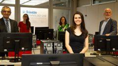 Poli recebe doação da empresa Trimble de laboratório para o curso de Engenharia Civil. Foto Cecília Bastos/USP Imagens