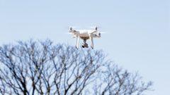 Drone para patrulhamento aéreo do do Campus de Pirassununga. Foto: Marcos Santos/USP Imagens