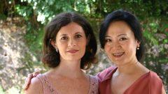 Professoras da ECARP, Yuka Almeida Prado e Fátima Corvisier, 2000