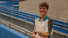 Leonardo Franco, aluno ingressante na FFLCH durante a recepção dos calouros da USP. Foto: Cecília Bastos/USP Imagem