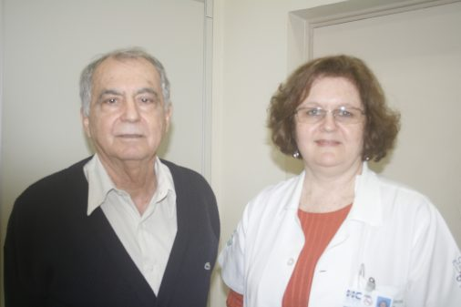 Prof. Marco Antonio Barbieri, da FMRP e Elisa Bettiol