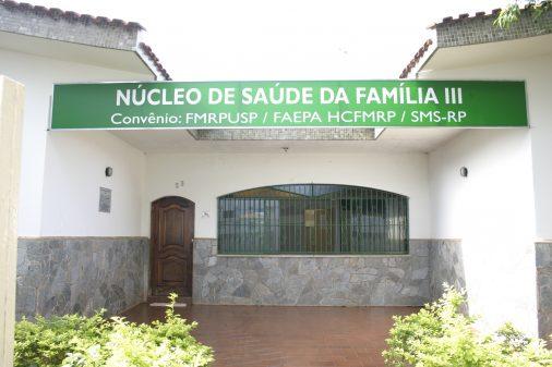 Fachada Núcleo de Saúde da Família III, da FMRP