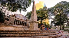 Largo da Memória - Prédios tombados pelo Condephaat. Foto: Cecília Bastos/USP Imagem
