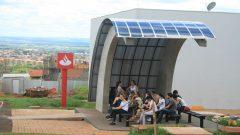 Novo ponto de ónibus no Restaurante Central, campus de Ribeirão Preto