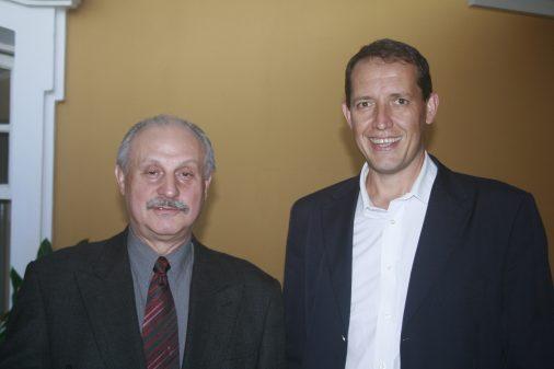 Prof. Rudinei Toneto, da FEARP, e José Antonio Franchini
