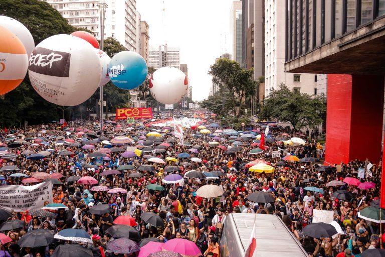 corte de verba na educação na Av. Paulista. Foto: Cecília Bastos/USP Imagem