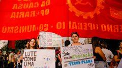 Estudantes e professores de universidades e institutos federais fazem protesto contra corte de verba na educação na Av. Paulista. Foto: Cecília Bastos/USP Imagem