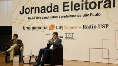 Marcello Rollemberg , Fernando Haddad ( candidato prefeito) na Jornada Eleitoral - Uma parceria USP Debate + Rádio Usp - Idéias dos candidatos a prefeitura de São Paulo. foto: Cecília Bastos/Usp Imagem. Reg. 267-16