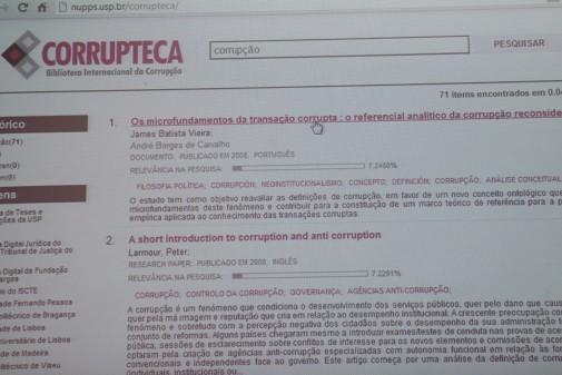Lançamento da Corrupteca – NuPPs