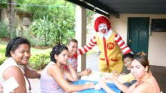 Visita de Ronald McDonald ao GACC de Ribeirão Preto, 2011